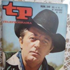 Coleccionismo de Revista Teleprograma: REVISTA TP TELEPROGRAMA Nº 349 ROBERT MITCHUM. Lote 133846478
