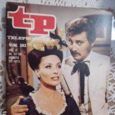 Coleccionismo de Revista Teleprograma: REVISTA TP TELEPROGRAMA Nº 383 LA ACTRIZ. Lote 133850334