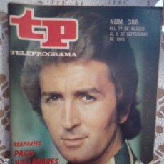 Coleccionismo de Revista Teleprograma: REVISTA TP TELEPROGRAMA Nº 386 PACO VALLADARES. Lote 133850442