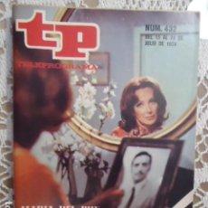 Coleccionismo de Revista Teleprograma: REVISTA TP TELEPROGRAMA Nº 432 AMOR DE SOMBRAS. Lote 133853538