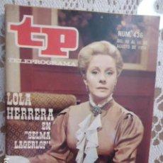 Coleccionismo de Revista Teleprograma: REVISTA TP TELEPROGRAMA Nº 436 SELMA LAGERLOF. Lote 133853658