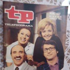 Coleccionismo de Revista Teleprograma: REVISTA TP TELEPROGRAMA Nº 437 LOS MANIATICOS. Lote 133853694