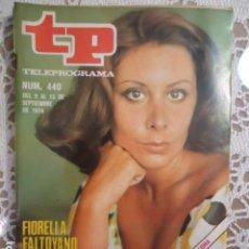 Coleccionismo de Revista Teleprograma: REVISTA TP TELEPROGRAMA Nº 440 FIORELLA FALTOYANO. Lote 133953518