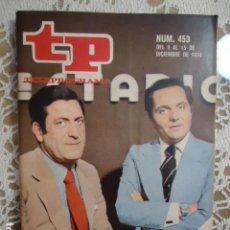 Coleccionismo de Revista Teleprograma: REVISTA TP TELEPROGRAMA Nº 453 ESTUDIO ESTADIO. Lote 133955174