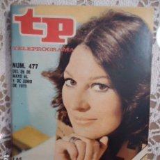 Coleccionismo de Revista Teleprograma: REVISTA TP TELEPROGRAMA Nº 477 TELE-REVISTAS. Lote 133959146