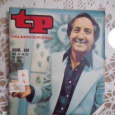 Coleccionismo de Revista Teleprograma: REVISTA TP TELEPROGRAMA Nº 481 LOS DOMINGO MAGIA. Lote 133959478