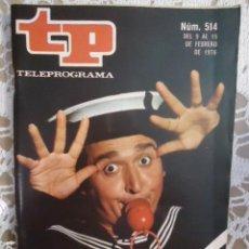 Coleccionismo de Revista Teleprograma: REVISTA TP TELEPROGRAMA Nº 514 EL MIERCOLES FERNANDO ESTESO. Lote 133962602
