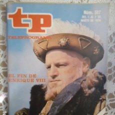 Coleccionismo de Revista Teleprograma: REVISTA TP TELEPROGRAMA Nº 517 EL FIN DE ENRIQUE VIII. Lote 133962778