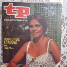 Coleccionismo de Revista Teleprograma: REVISTA TP TELEPROGRAMA Nº 601 MARICRUZ SORIANO EN GENTE. Lote 133964282