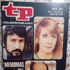 Collectionnisme de Magazine Teleprograma: REVISTA TP TELEPROGRAMA Nº 641 MEMORIAS DEL CINE ESPAÑOL- TIENE EL RECORTABLE Nº3 DE MAZINGER Z . Lote 133970582