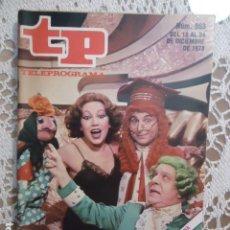 Coleccionismo de Revista Teleprograma: REVISTA TP TELEPROGRAMA Nº 663 SUMARISIMO. Lote 133972142