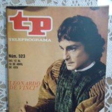 Coleccionismo de Revista Teleprograma: REVISTA TP TELEPROGRAMA Nº 523 LEONARDO DE VINCI. Lote 133974618
