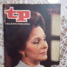 Coleccionismo de Revista Teleprograma: REVISTA TP TELEPROGRAMA Nº 575 LA VIUDA LOLA HERRERA. Lote 133977102