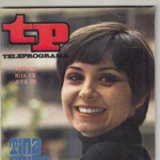 Coleccionismo de Revista Teleprograma: REVISTA TP TELEPROGRAMA Nº 222 AÑO 1970. TINA SAINZ. REAPARECE ITENE. EL BOXEO EN LA ACTUALIDAD. . Lote 134024346