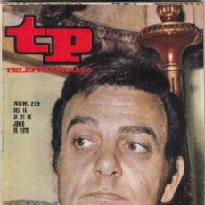 Coleccionismo de Revista Teleprograma: REVISTA TP TELEPROGRAMA Nº 219 AÑO 1970. MANNIX. LA FINAL DEL MUNDIAL MEXICO. . Lote 134025258