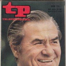 Coleccionismo de Revista Teleprograma: REVISTA TP TELEPROGRAMA Nº 216 AÑO 1970. FRANZ JOHAM. DE BOGART A PECK. MUNDIAL DE FUTBOL. . Lote 134025646