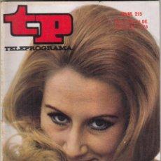 Coleccionismo de Revista Teleprograma: REVISTA TP TELEPROGRAMA Nº 215 AÑO 1970. MARISA MEDINA. FERIA SAN ISIDRO. EL GIRO. . Lote 134025806