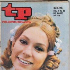 Coleccionismo de Revista Teleprograma: REVISTA TP TELEPROGRAMA Nº 205 AÑO 1970. ANA MARIA VIDAL EN EUGENIA DE MONTIJO. . Lote 134027242