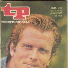 Coleccionismo de Revista Teleprograma: REVISTA TP TELEPROGRAMA Nº 241 AÑO 1970. ADIOS A TARZAN. GALA DE LA UNICEF. LAS MARIPOSAS CANTAN.. Lote 134092214