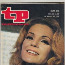 Coleccionismo de Revista Teleprograma: REVISTA TP TELEPROGRAMA Nº 210 AÑO 1970. CARMEN SEVILLA. LLEGADA A LA LUNA. JAMES STEWART Y NIVEN.. Lote 134092882