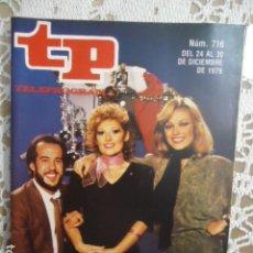 Coleccionismo de Revista Teleprograma: REVISTA TP TELEPROGRAMA Nº 716 APLAUSO. Lote 134411258