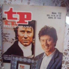 Coleccionismo de Revista Teleprograma: REVISTA TP TELEPROGRAMA Nº 732 POLDARK. Lote 134412850