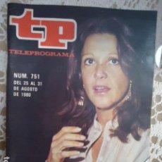 Coleccionismo de Revista Teleprograma: REVISTA TP TELEPROGRAMA Nº 751 ALICIA. Lote 134414282