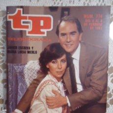 Coleccionismo de Revista Teleprograma: REVISTA TP TELEPROGRAMA Nº 774 LA QUIERO SEÑORA BROWN. Lote 134417090