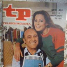 Coleccionismo de Revista Teleprograma: REVISTA TP TELEPROGRAMA Nº 826 DIALOGOS DE MATRIMONIO. Lote 134422710