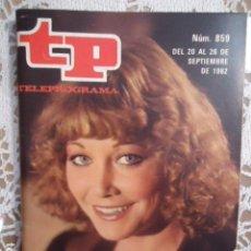 Coleccionismo de Revista Teleprograma: REVISTA TP TELEPROGRAMA Nº 859 BLANCA ESTRADA. Lote 134581962
