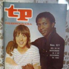 Coleccionismo de Revista Teleprograma: REVISTA TP TELEPROGRAMA Nº 921 TOCATA. Lote 134606858