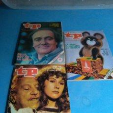 Coleccionismo de Revista Teleprograma: REVISTAS TP N'721-745-748 AÑO 1980. Lote 134624219
