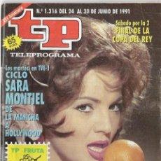 Coleccionismo de Revista Teleprograma: == TP04 - REVISTA TELEPROGRAMA Nº 1.316 - 1990 - PORTADA SARA MONTIEL. Lote 134881186