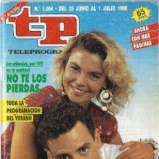 Coleccionismo de Revista Teleprograma: == TP09 - REVISTA TELEPROGRAMA Nº 1.264 - 1990 - PORTADA LETICIA SABATER Y ENRIQUE SIMÓN. Lote 134881578