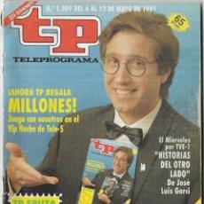 Coleccionismo de Revista Teleprograma: == TP17 - REVISTA TELEPROGRAMA Nº 1.309 - 1991 - PORTADA EMILIO ARAGÓN. Lote 134882646