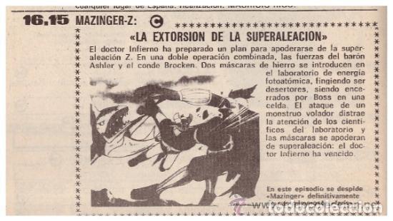 Coleccionismo de Revista Teleprograma: Revista Teleprograma TP, nº 665 (del 1 al 7 de enero 1979) - Con programacion 5 episodios Mazinger Z - Foto 7 - 136072322