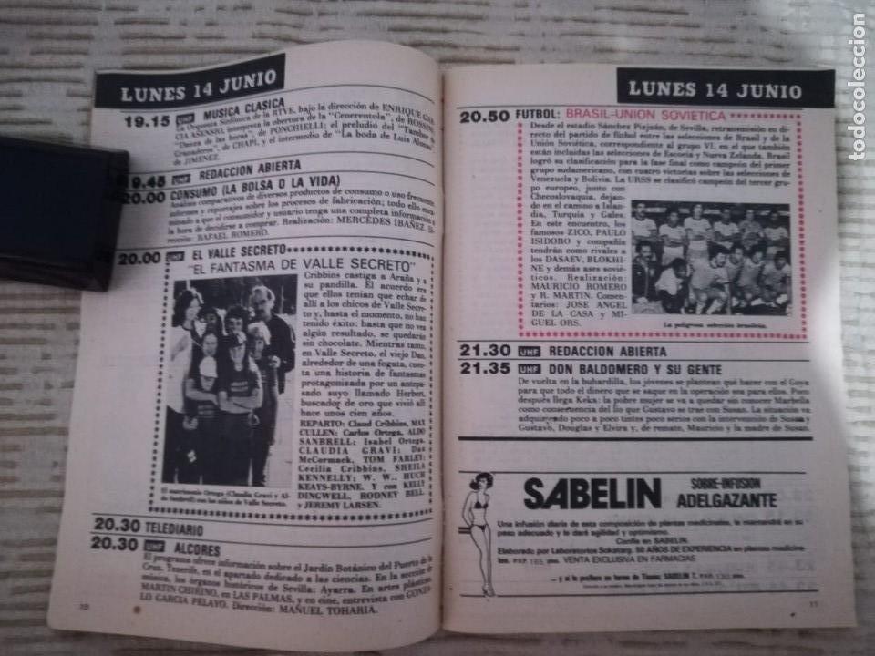 Coleccionismo de Revista Teleprograma: TELEPROGRAMA 845 JUNIO DE 1982 EXTRA MUNDIAL 82 GORDILLO ALESANCO CAMACHO ARCONADA TP - Foto 3 - 52842601