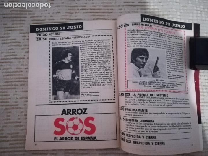 Coleccionismo de Revista Teleprograma: TELEPROGRAMA 845 JUNIO DE 1982 EXTRA MUNDIAL 82 GORDILLO ALESANCO CAMACHO ARCONADA TP - Foto 7 - 52842601