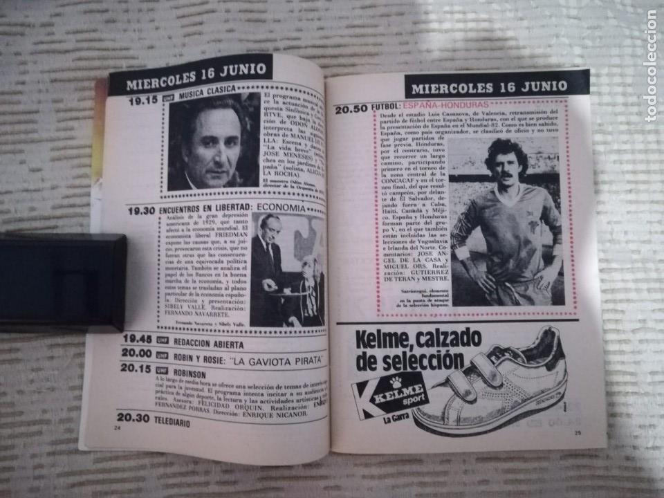 Coleccionismo de Revista Teleprograma: TELEPROGRAMA 845 JUNIO DE 1982 EXTRA MUNDIAL 82 GORDILLO ALESANCO CAMACHO ARCONADA TP - Foto 11 - 52842601