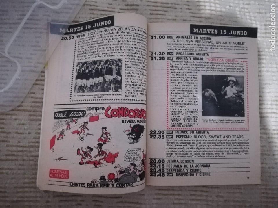 Coleccionismo de Revista Teleprograma: TELEPROGRAMA 845 JUNIO DE 1982 EXTRA MUNDIAL 82 GORDILLO ALESANCO CAMACHO ARCONADA TP - Foto 14 - 52842601