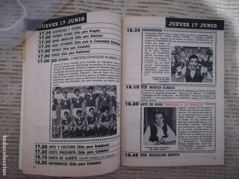 Coleccionismo de Revista Teleprograma: TELEPROGRAMA 845 JUNIO DE 1982 EXTRA MUNDIAL 82 GORDILLO ALESANCO CAMACHO ARCONADA TP - Foto 15 - 52842601