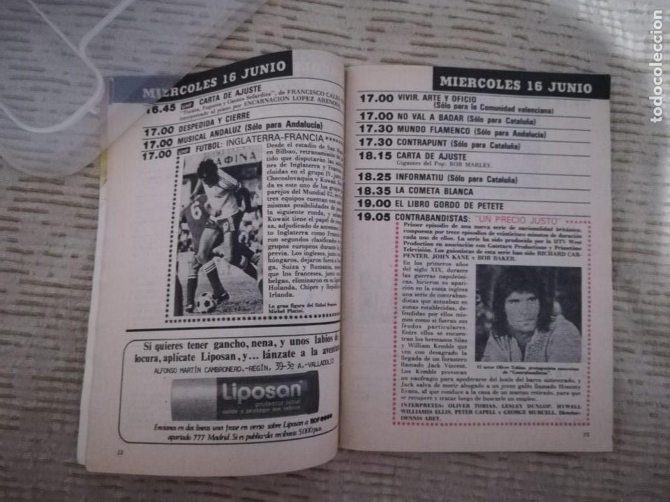 Coleccionismo de Revista Teleprograma: TELEPROGRAMA 845 JUNIO DE 1982 EXTRA MUNDIAL 82 GORDILLO ALESANCO CAMACHO ARCONADA TP - Foto 16 - 52842601
