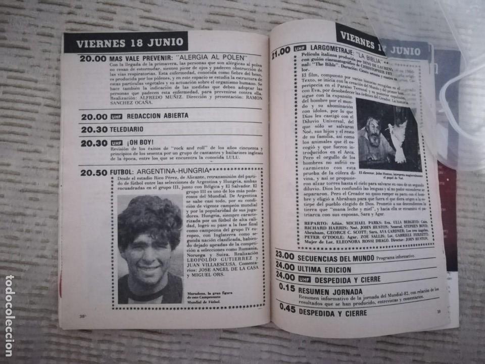 Coleccionismo de Revista Teleprograma: TELEPROGRAMA 845 JUNIO DE 1982 EXTRA MUNDIAL 82 GORDILLO ALESANCO CAMACHO ARCONADA TP - Foto 17 - 52842601