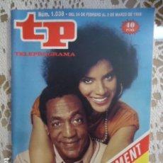 Coleccionismo de Revista Teleprograma: TP TELEPROGRAMA Nº 1038 - 1986 - EL SHOW DE BILL COSBY. Lote 137886294