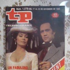 Coleccionismo de Revista Teleprograma: TP TELEPROGRAMA Nº 1076 - 1986 - NORTE Y SUR. Lote 137890926