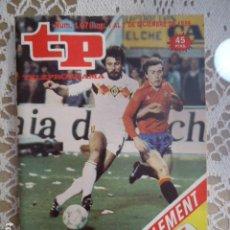 Coleccionismo de Revista Teleprograma: TP TELEPROGRAMA Nº 1078 - 1986 - ALBANIA-ESPAÑA. Lote 137891038