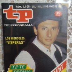 Coleccionismo de Revista Teleprograma: TP TELEPROGRAMA Nº 1106 LOS MIERCOLES VISPERAS. Lote 137896298