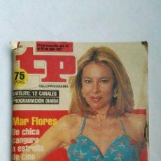 Coleccionismo de Revista Teleprograma: REVISTA TP TELEPROGRAMA JULIO 1997 MAR FLORES ANA OBREGÓN. Lote 139246633