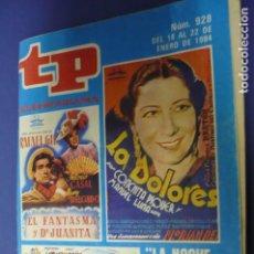 Coleccionismo de Revista Teleprograma: TP Nº 928. Lote 143302078