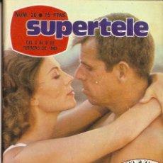 Coleccionismo de Revista Teleprograma: REVISTA SUPERTELE Nº 20 NATALIE WOOD DE AQUÍ A LA ETERNIDAD FANTASY ISLAND PROGRAMACIÓN TVE. Lote 144549626